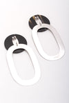 Hollow Horn Rectangle Earrings