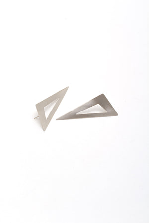 Long Pierced Triangle Earring