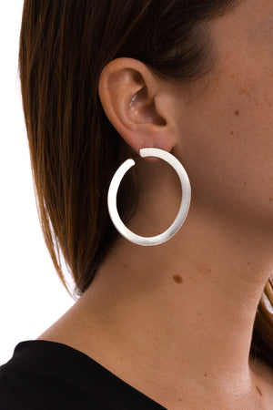 Large Flat Oval Earring