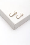 Flat J Shape Earrings