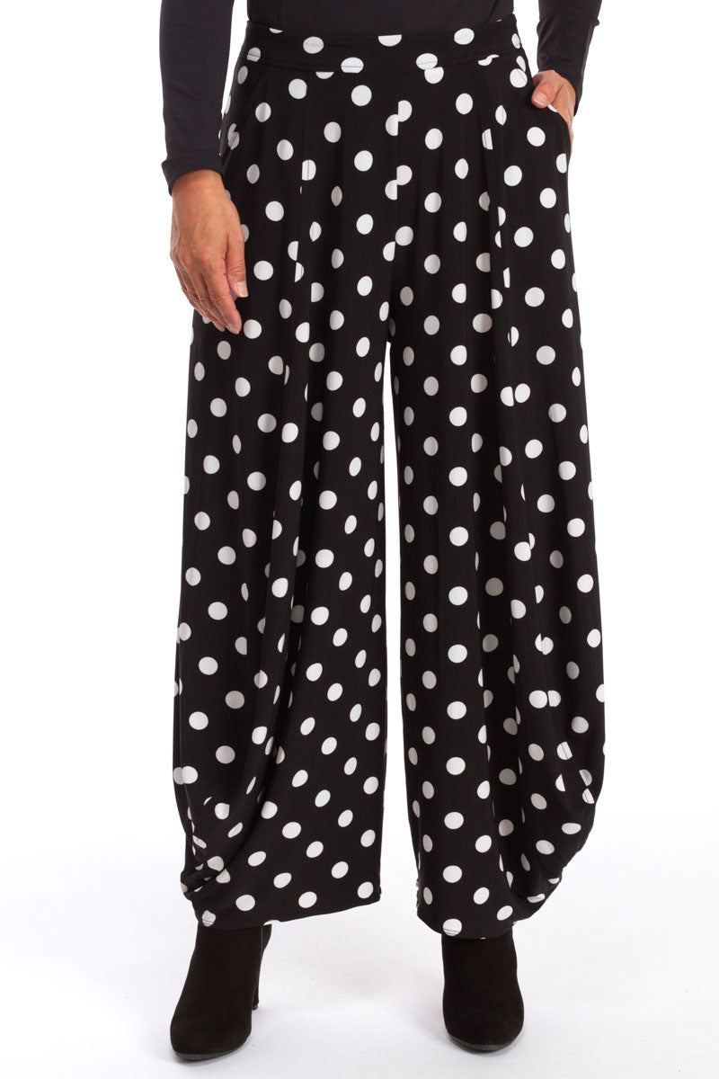 Flat Front Ankle Pant in Dot