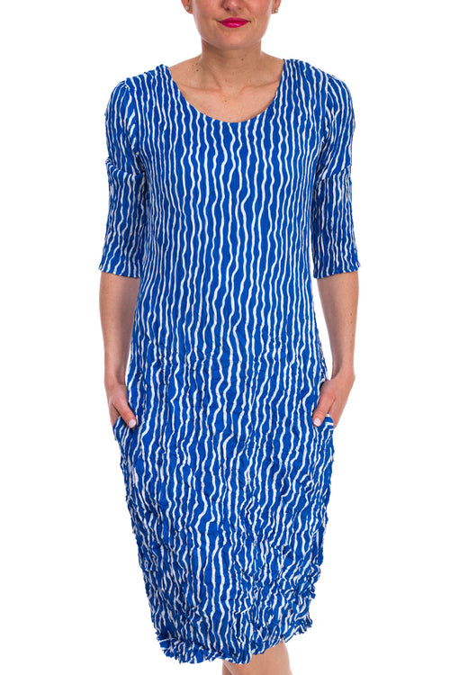 3/4 Sleeve Panelo Dress