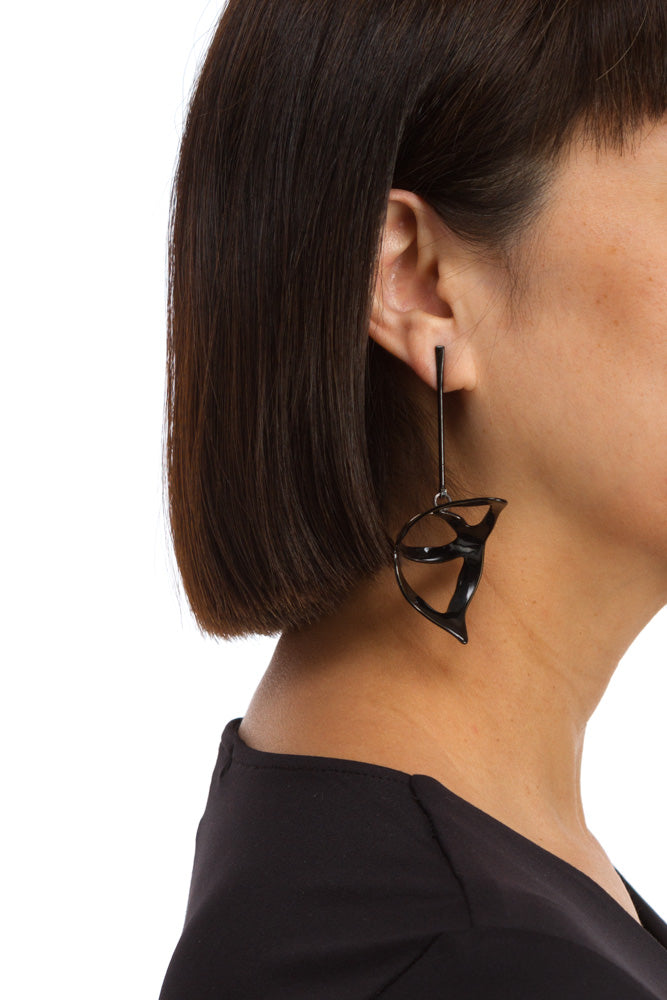 Large Open Weave Scoop Drop Earring