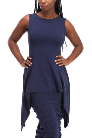 Sleeveless Point Tunic