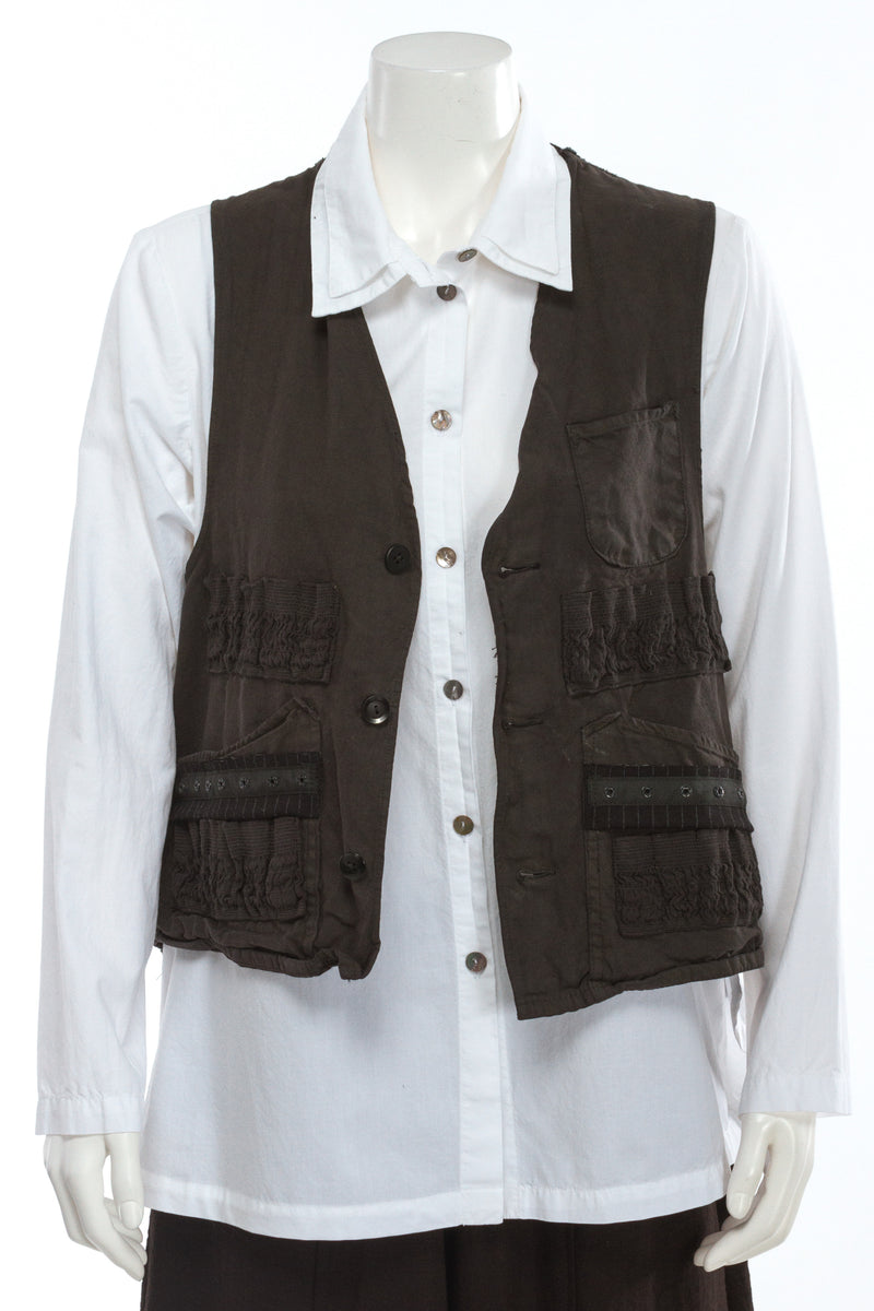 Field Vest With Kantha Back