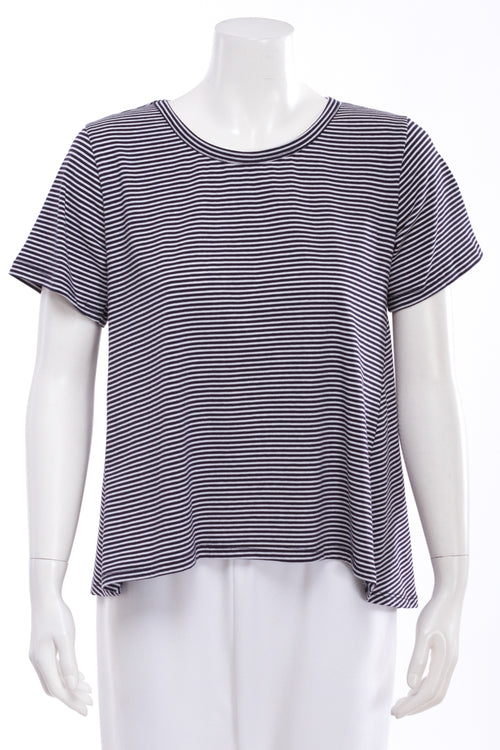 Striped Pleat Back Tee
