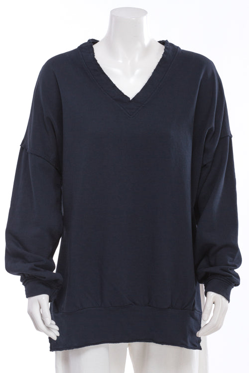 V-Neck French Terry Sweatshirt