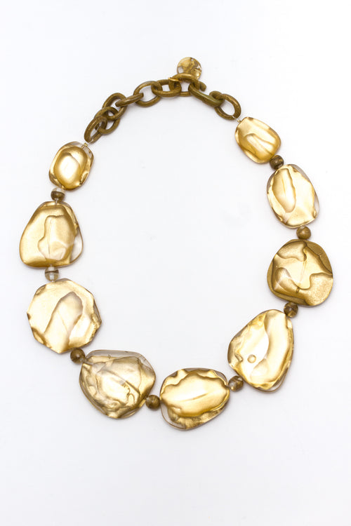 Gaby Flat Pebble Necklace