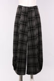 Punto Pant in Plaid in Grey/Black Plaid