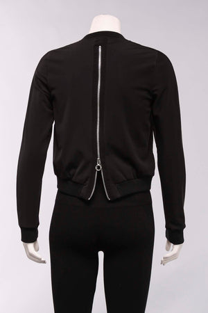 Zip Bomber Jacket in Black
