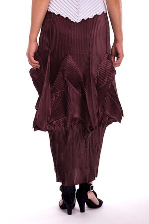 Z-Pleat Narrow Skirt