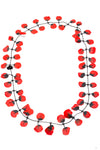 Poppy Necklace Red
