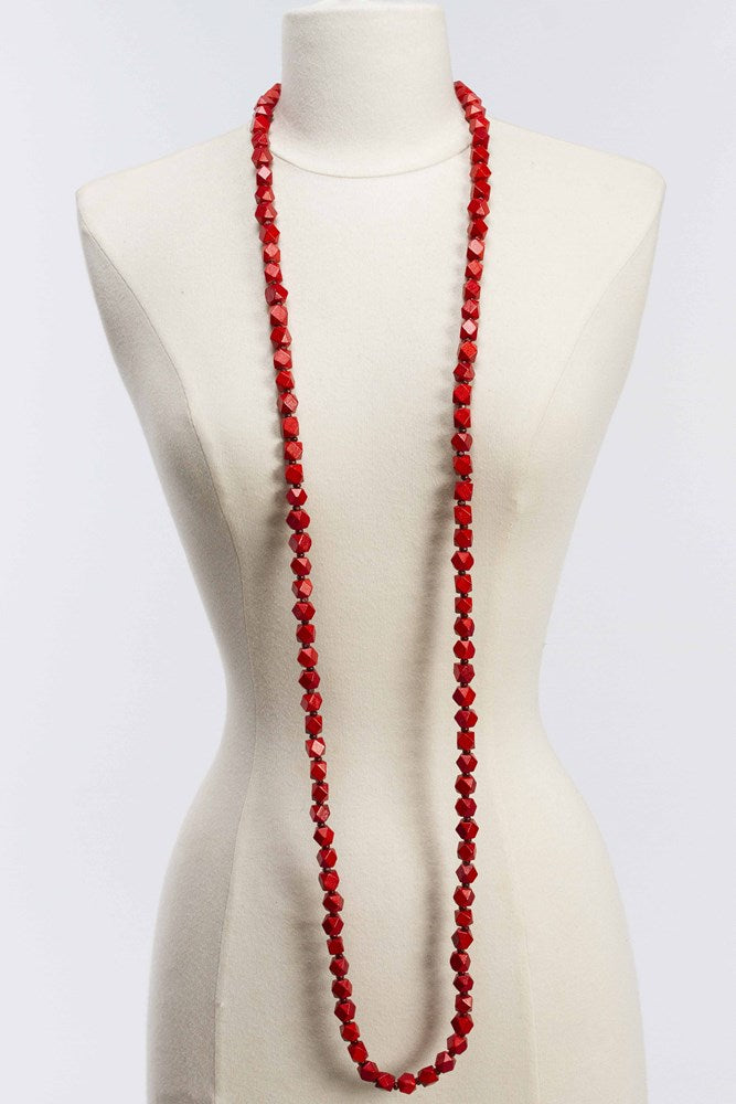 Austrian 10x10 Faceted Bead Necklace