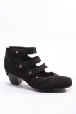 Serano Strap Shoe in Black