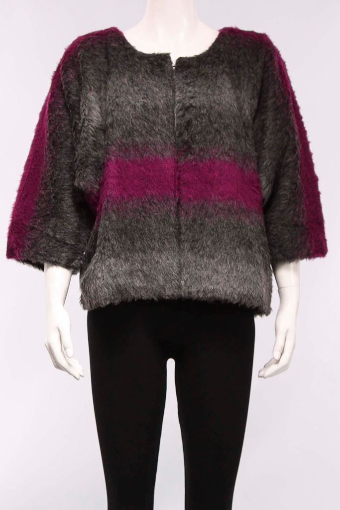 Jacket Nina in Fuchsia/Stripe