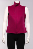 Reversible Vest in Magenta/Black