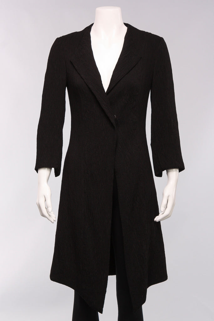 Long Fitted Jacket in Black