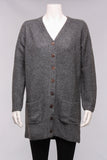 Mansted Long Button Cardigan in Mercury Grey