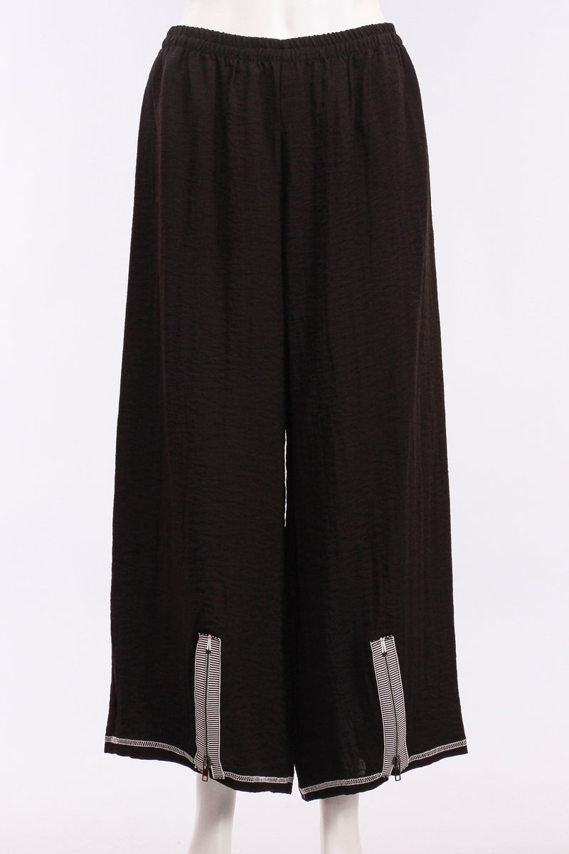 Zipper Pant in Black