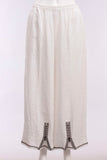 Zipper Pant in White