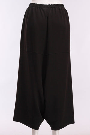Slinky Balloon Pant W/Pocket in Black/Ivory