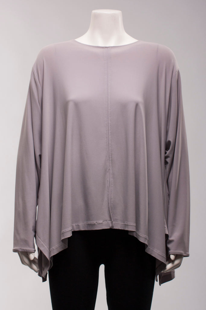 Hanky Hem Swing Top in Silver