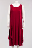 Sleeveless Dress in Ruby