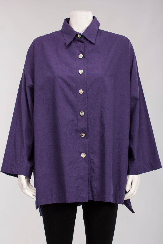 Shirt W/ Side Slit in Purple