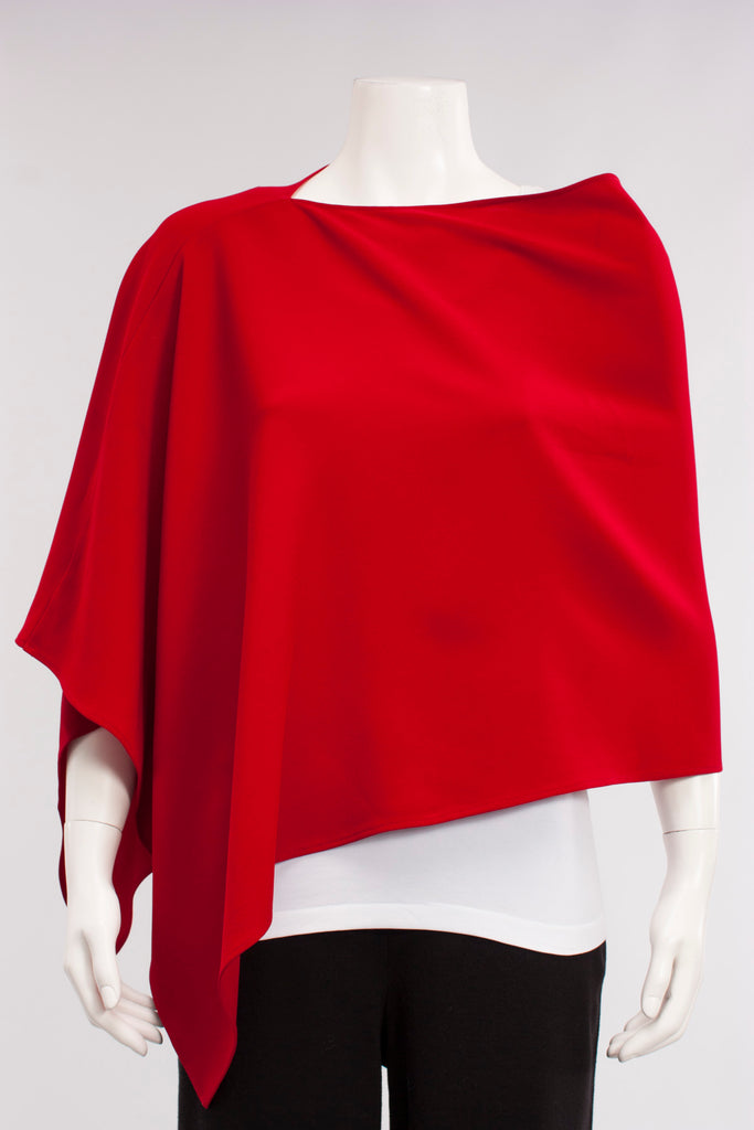 Scarf Poncho in Red