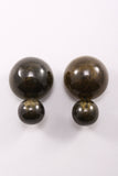 Double Spheres Earring in Olive