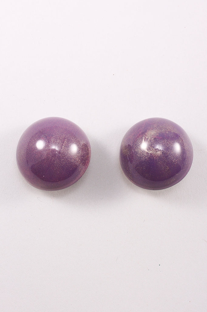 Large Half-Sphere Earring in Purple