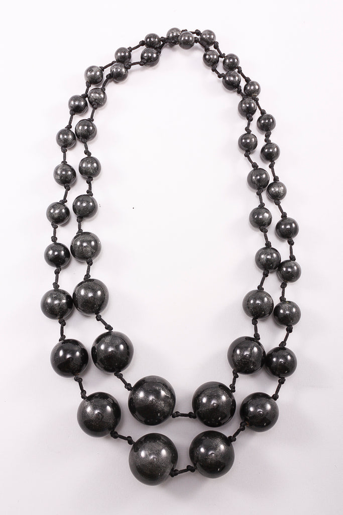 Long Spheres Necklace in Anthracite
