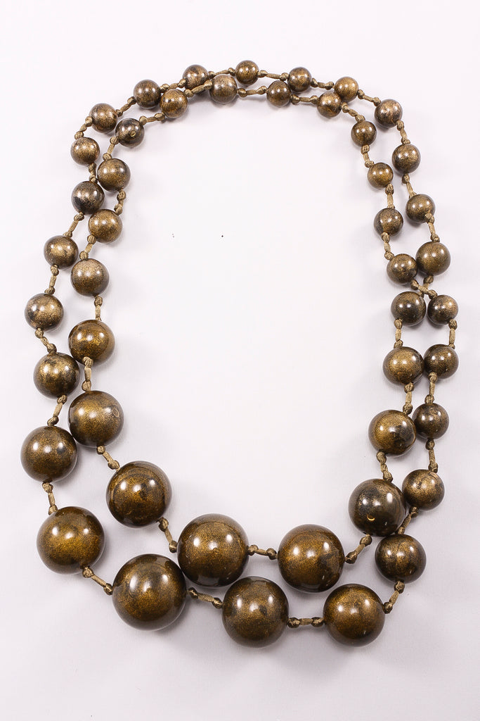 Long Spheres Necklace in Olive