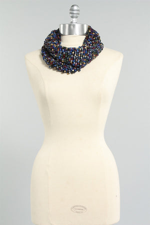 Crocheted Fishnet Scarf in Wintermix 6023484450 - WNTRMIX