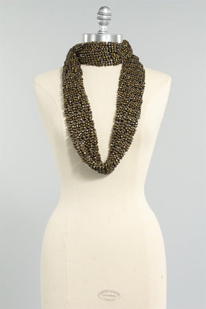 Crocheted Fishnet Scarf in Earth 6023484449 - EARTH