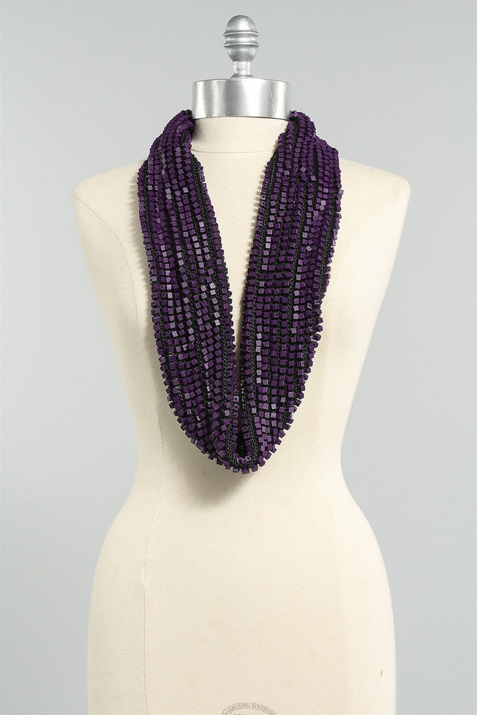 Crocheted Single Sided in Purple/Black 6023484442 - PURP/BLK