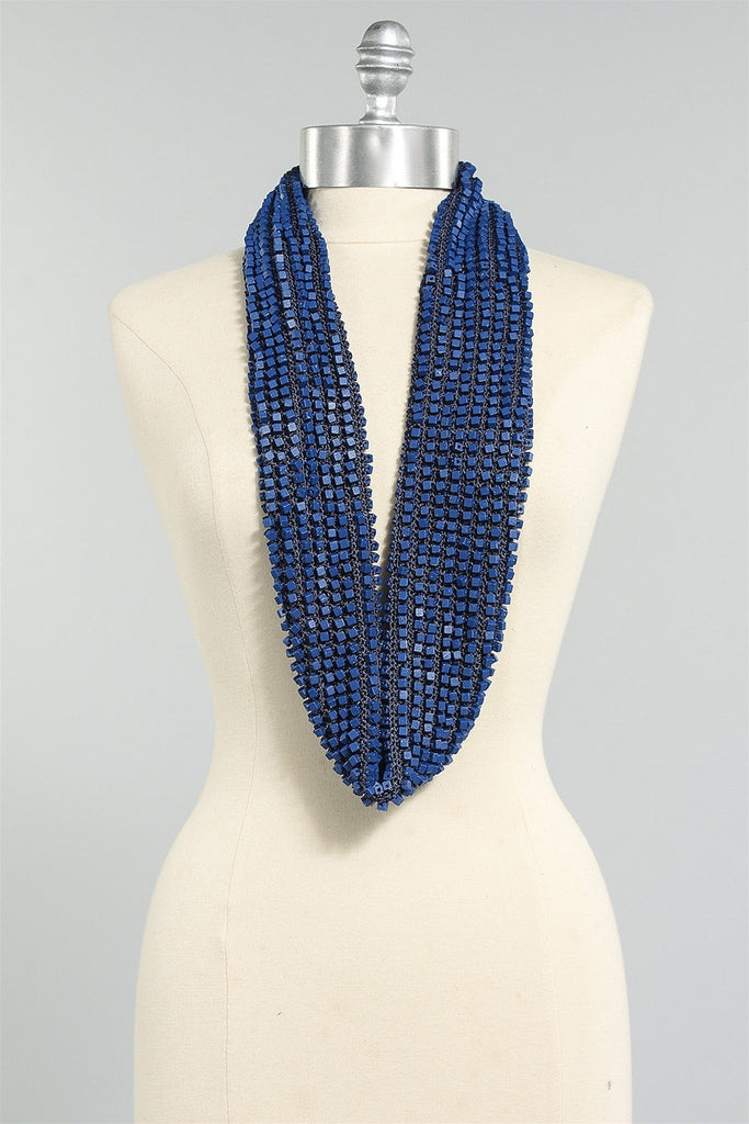 Crocheted Single Sided in Electric Blue 6023484456 - ELECBLUE