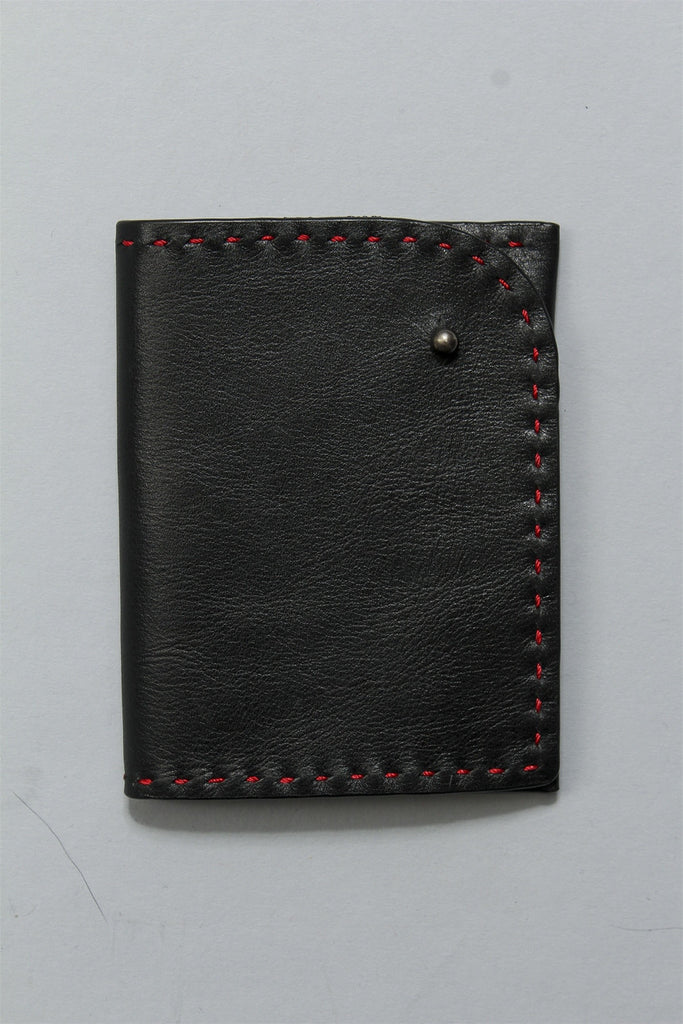 Pocket Wallet in Red Stitch 6023484805 - RED*