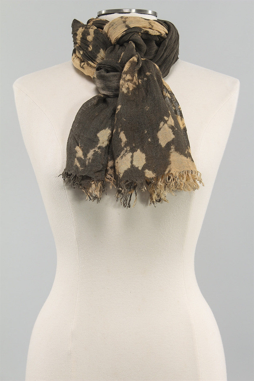 Dyed & Crimped Scarf in Brown TD16BR  - BROWN