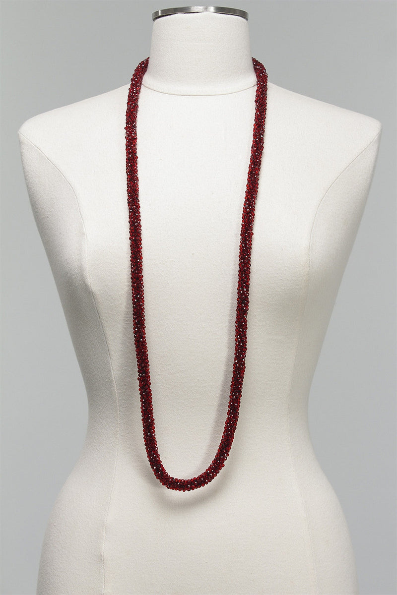Long Crystal Rope Necklace