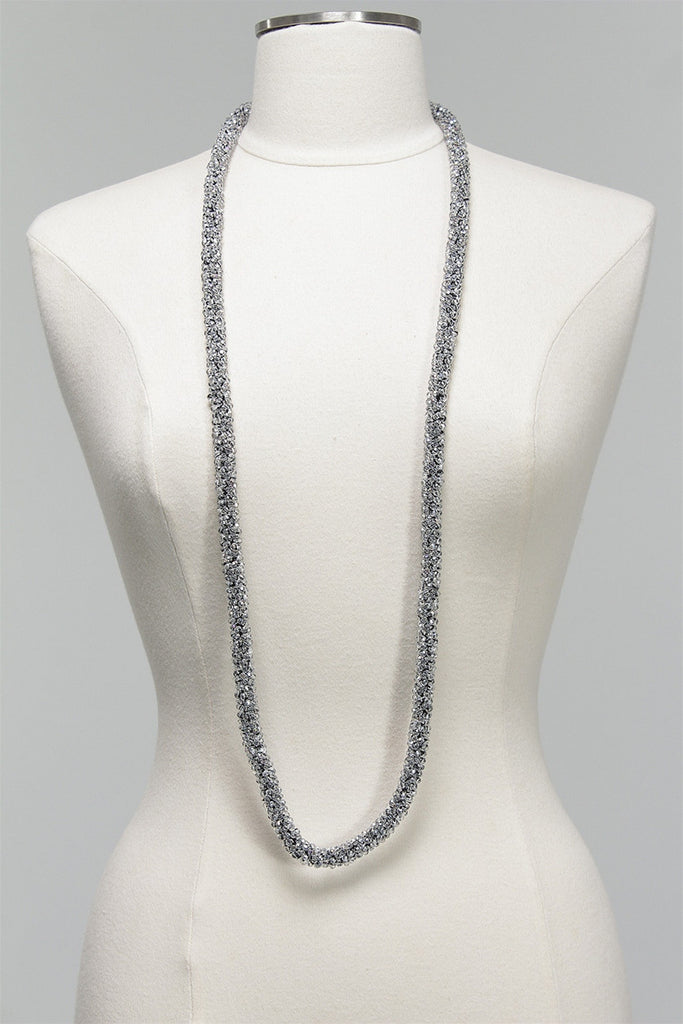 Long Crystal Rope Necklace in Clear C-NL1523 - CLEAR
