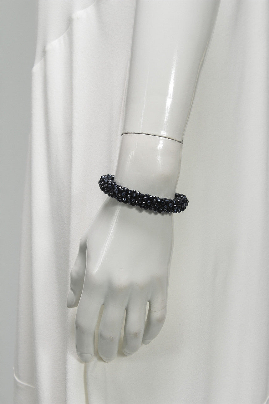 Crystal Rope Bracelet in Navy C-BL1502 - NAVY