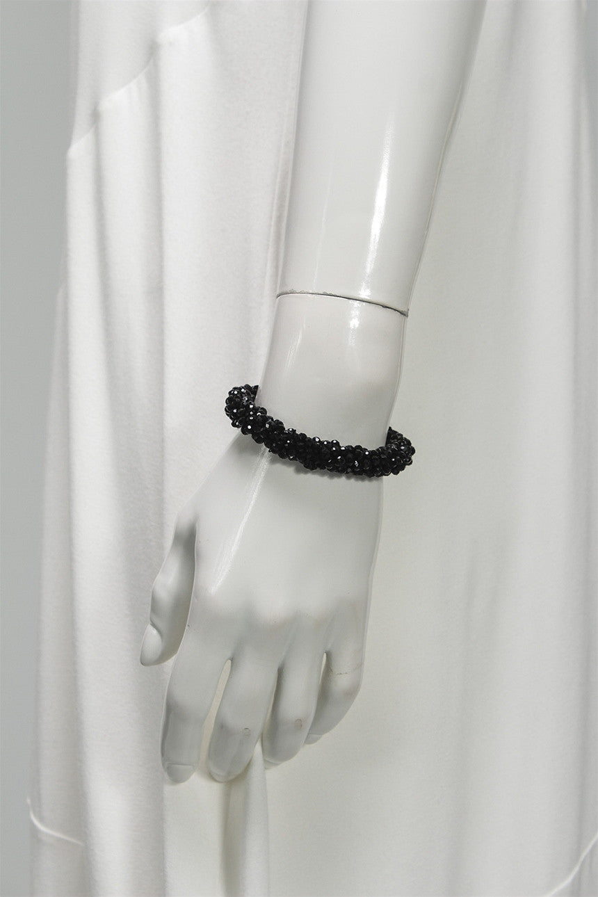 Crystal Rope Bracelet in Black C-BL1502 - BLACK