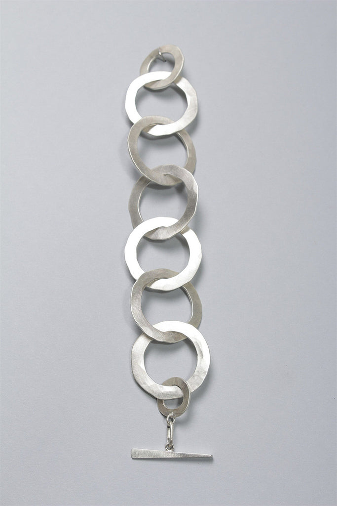 Light Round Link Bracelet in Sterling Silver C-GPB2 - STERLING
