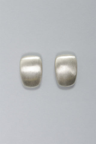 Rectangle Clip Earrings in Sterling Silver C-GPE18 - STERLING