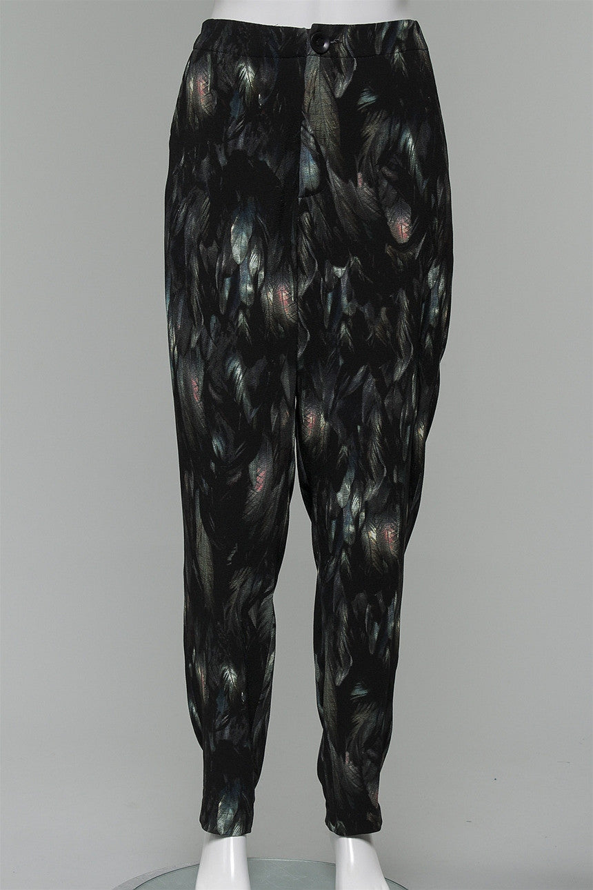 Pants in Raven Print 156-333-916 - RAVNPRNT