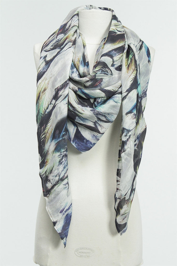 Iris Feathers Scarf in Multi 156-516-569 - MULTI