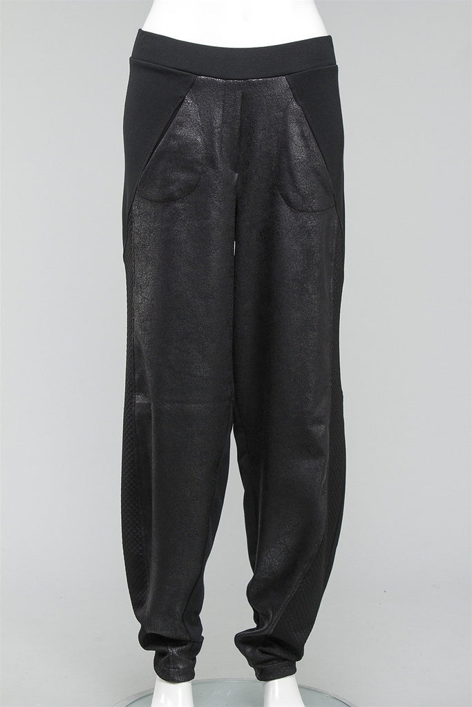 Mix Media Pant in Black P225 - BLACK