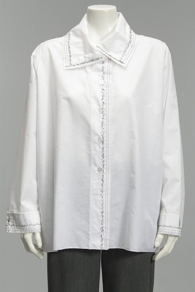 Ray Harris Poplin Shirt in White