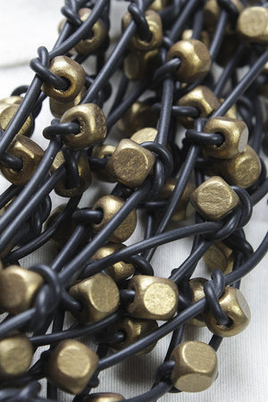 Rubber Strand 8x8 Beads (10) in Bronze C-JNL1612 - BRONZE